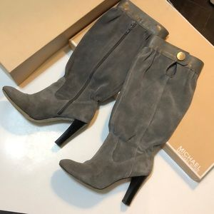 Michael Kors suede grey women's harness boot 7.5